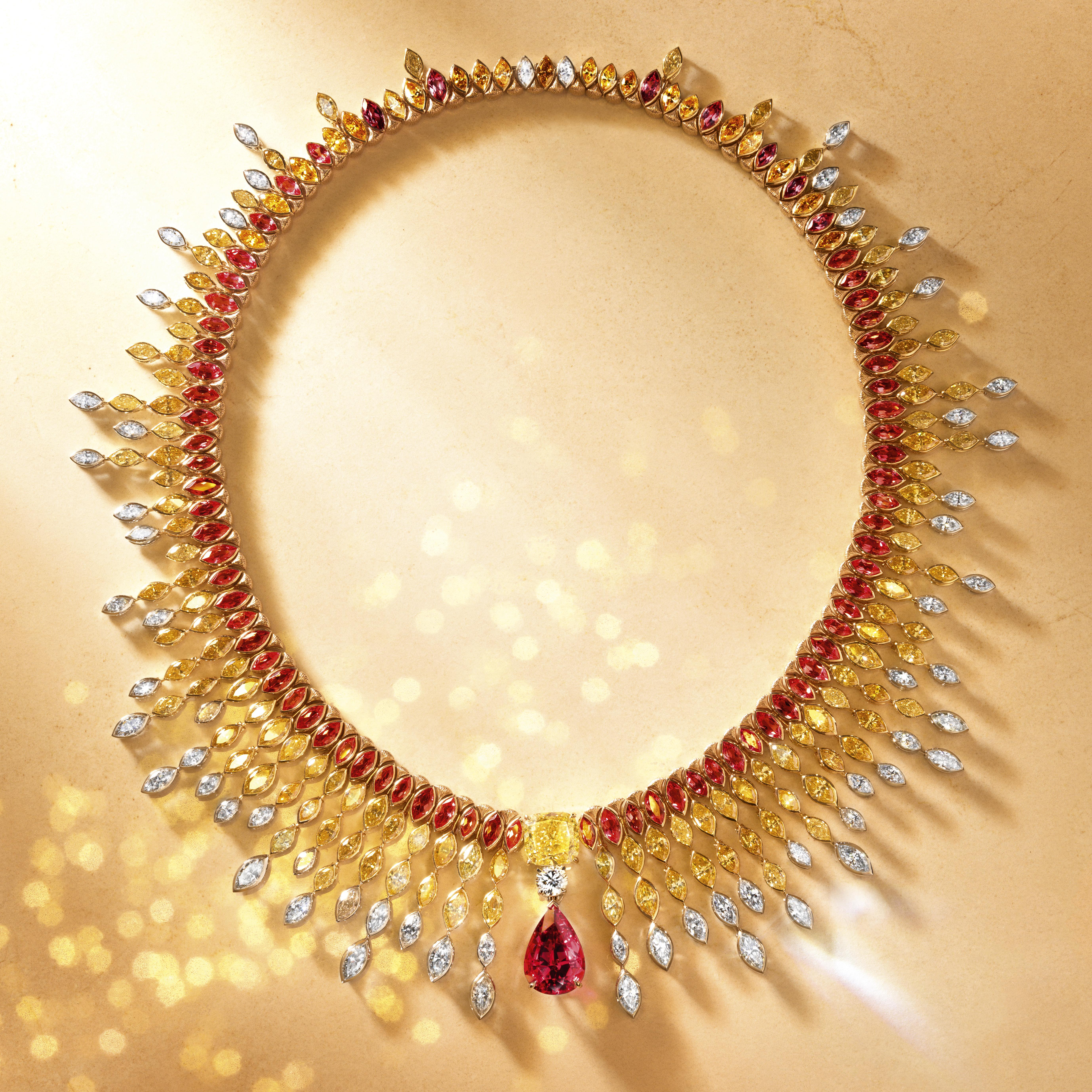 piaget high jewelry necklace, luxury jewelry
